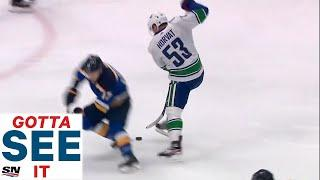 GOTTA SEE IT: Bo Horvat Goes End-To-End, Dangles St. Louis Blues' Defence For Incredible Goal