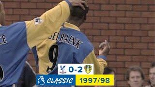 Terrific goal from Hasselbaink! | Crystal Palace 0-2 Leeds United | Premier League Classic | 1997/98