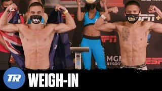 Moloney vs Franco: Weigh-In