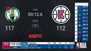 Celtics @ Clippers | NBA on ESPN Live Scoreboard