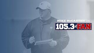 Mike McCarthy on 105.3 The Fan | 10/9/20 | Dallas Cowboys 2020