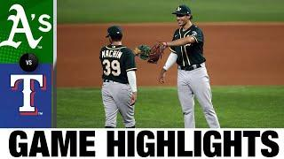 Matt Olson's 5 RBIs lead A's to 10-6 win | A's-Rangers Game Highlights 9/11/20