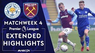 Leicester City v. West Ham | PREMIER LEAGUE HIGHLIGHTS | 10/4/2020 | NBC Sports