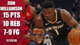 Zion Williamson posts double-double in Pelicans' season opener [HIGHLIGHTS] | NBA on ESPN