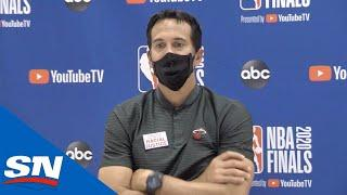 Erik Spoelstra Gets Emotional Following Finals Loss to Lakers