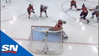 Sergei Bobrovsky Makes Two Point-Blank Saves With Anders Lee On The Doorstep