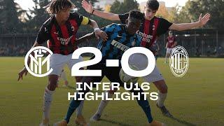 INTER 2-0 AC MILAN | UNDER 16 HIGHLIGHTS  | Let's start the Derby week with a Derby victory!