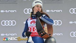 Sofia Goggia wins in Crans-Montana for third-straight FIS World Cup downhill victory | NBC Sports