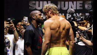 SHREDDED! FLOYD MAYWEATHER & LOGAN PAUL WEIGH-IN AND FACE OFF IN MIAMI