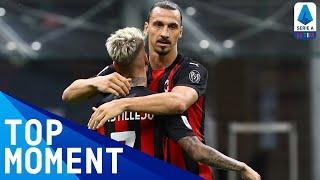 Zlatan sets new record as he reaches double figures | Milan 3-0 Cagliari | Top Moment | Serie A TIM