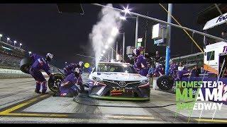 Denny Hamlin pits in final stage overheating | NASCAR at Homestead-Miami Speedway