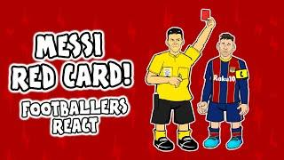 REACTING to Lionel Messi's RED CARD!