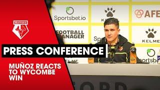 BACK TO WINNING WAYS! | MUÑOZ REACTS TO WYCOMBE WIN | PRESS CONFERENCE