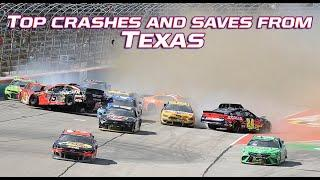 Top crashes and saves from the O'Reilly Auto Parts 500 at Texas Motor Speedway | NASCAR Cup Series