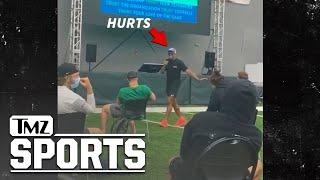 Eagles' Jalen Hurts Hilariously Booed For Horrible Singing   TMZ Sports