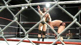 Drew McIntyre launches Roderick Strong into the cage: The Greatest Independent Steel Cage Matches