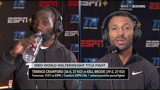 'I DONT GIVE A F***' (WOW) - TERENCE CRAWFORD & KELL BROOK GET PERSONAL & HEATED IN BITTER EXCHANGE
