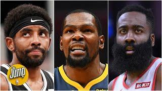 Would 'only one basketball' be a problem for James Harden, Kevin Durant and Kyrie Irving? | The Jump