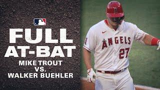 Mike Trout shows down vs. Dodgers' Walker Buehler! (Trout hits MLB-leading 9th HR after battle!)