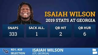 Tennessee Titans Select OT Isaiah Wilson From Georgia With Pick #29 In 1st Round Of 2020 NFL Draft