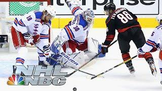 NHL Stanley Cup Qualifying Round: Rangers vs. Hurricanes | Game 1 EXTENDED HIGHLIGHTS | NBC Sports