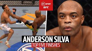 Anderson Silva Top Five Finishes in the UFC! | Belfort, Griffin, Sonnen