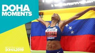 Rojas Wins Back-to-Back Triple Jump Golds | World Athletics Championships 2019 | Doha Moments