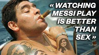 """20 LEGENDARY Diego Maradona quotes - """"Watching Messi play is better than s*x"""" 