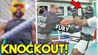*K.O* AJ JOSHUA LEAKED SPARRING IN CAMP FOR KUBRAT PULEV+ *UNSEEN TRAINING ON PADS and HEAVY BAG*