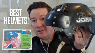 Our Top 10 Hockey Helmets On Hockey Cards! | Hockey Card History