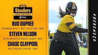 Steelers Press Conference (Oct. 5): Bud Dupree, Steven Nelson, Chase Claypool