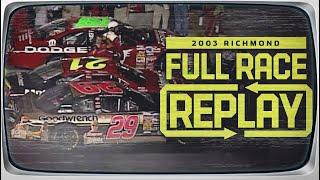 2003 Chevy Rock and Roll 400 from Richmond Raceway | NASCAR Classic Full Race Replay