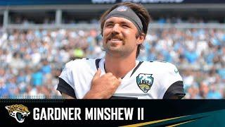 Gardner Minshew II and Jay Gruden meet with the Media During Jaguars Training Camp