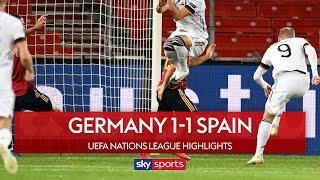 Timo Werner's opening goal cancelled out by Gaya   Germany 1-1 Spain   Nations League Highlights