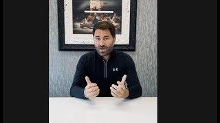 EDDIE HEARN DONATES 200 TICKETS TO NHS WORKERS FOR EVERY SATURDAY FIGHT NIGHT/PPV SHOW FOR NEXT YEAR