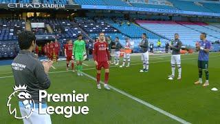Premier League champions Liverpool receive guard of honor from Manchester City | NBC Sports