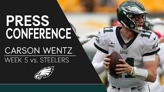 Carson Wentz Talks Loss to Steelers, Travis Fulgham's Performance, & More | Eagles Press Conference