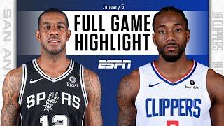 San Antonio Spurs vs. LA Clippers [FULL GAME HIGHLIGHTS] | NBA on ESPN