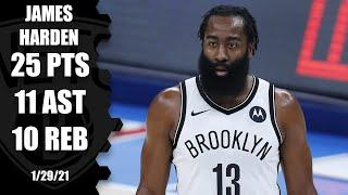 James Harden posts triple-double with Kevin Durant out [HIGHLIGHTS]   NBA on ESPN