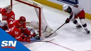 Texier Shows Off Speed With Perfect Wraparound Goal Against Red Wings