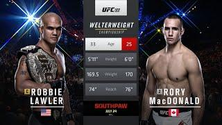 Free Fight: Robbie Lawler vs Rory MacDonald 2