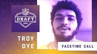 FaceTime Call With Minnesota Vikings Fourth Round NFL Draft Pick Troy Dye