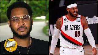 Carmelo Anthony on return to the NBA, Blazers' playoff push and social activism | The Jump