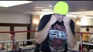 YOUNG TYSON FURY (AGE 22) SHOWS HIS FLEET-FOOTED MOVEMENT PREPARING FOR DEREK CHISORA 9 YEARS AGO