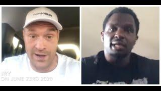 'YOU'RE A MUG' -TYSON FURY & DILLIAN WHYTE GET INTO BRUTAL WAR OF WORDS ON TWITTER (HEATED EXCHANGE)