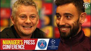 Bruno to captain United in Paris | Press Conference | PSG v Manchester United | Champions League