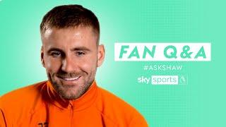 Which Premier League STAR does Amad Diallo remind Luke Shaw of?    Fan Q&A with Luke Shaw
