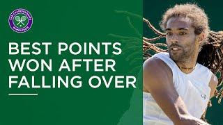 Best points won after falling over | Wimbledon Retro