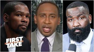 Stephen A. reacts to Kevin Durant calling out Kendrick Perkins | First Take