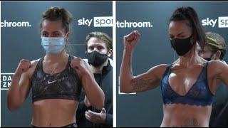 THE ONLY FEMALE FIGHT! - ELLIE SCOTNEY VS BEC CONNOLLY OFFICIAL WEIGH-IN & FACE OFF